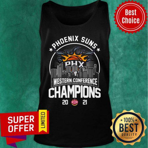 Phoenix Suns Western Conference Champions 2021 Baseball PHX Tank Top