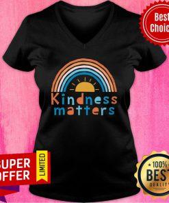 Rainbow Sunshine Kindness Matters V-neck