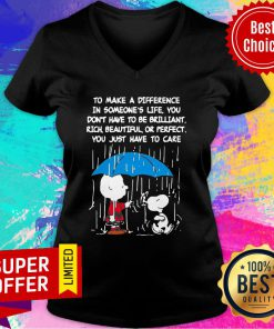 Snoopy To Make A Difference In Someone's Life Don't Have To Be Brilliant V-neck