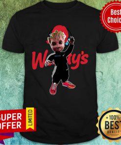 Baby Groot Wendy's Logo Halloween Shirt