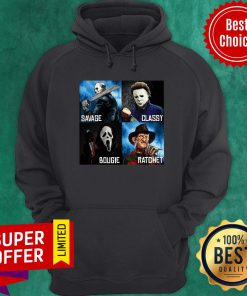 Horror Movies Characters Savage Classy Bougie Ratchet Hoodie
