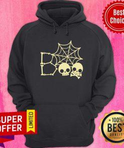Spider Web Skull Boo Halloween Hoodie