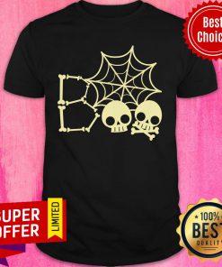 Spider Web Skull Boo Halloween Shirt