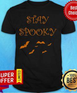 Bat Stay Spooky Retro Halloween Day 2020 Shirt