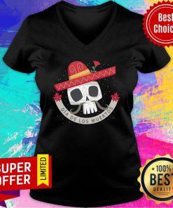 Dia De Los Muertos Skull V-neck