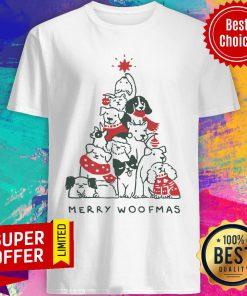 Dogs Tree Merry Woofmas Shirt