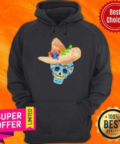 Premium Sombrero Sugar Skull Mexico Holiday Hoodie