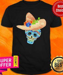 Premium Sombrero Sugar Skull Mexico Holiday Shirt