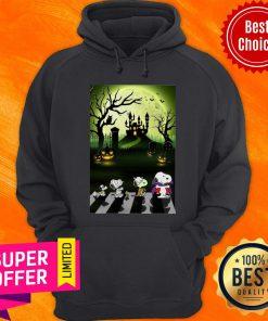 Snoopy Abbey Road Halloween Moon Hoodie