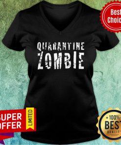 Nice Halloween Quarantine Zombie V-neck